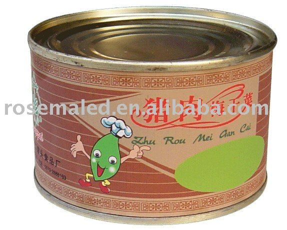 canned pork mustard  in China at a low price from factory
