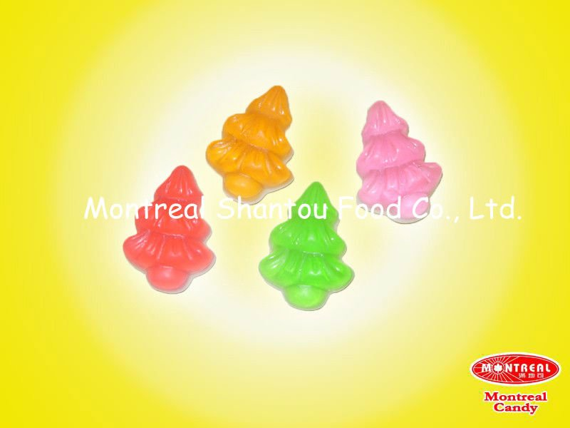 christmas tree shaped gummy candy