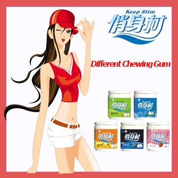 herbal slimming chewing gum,relieving constipation,prevent tooth decay,fresh breath,prevent fat accu