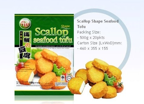 Scallop Shape Seafood Tofu