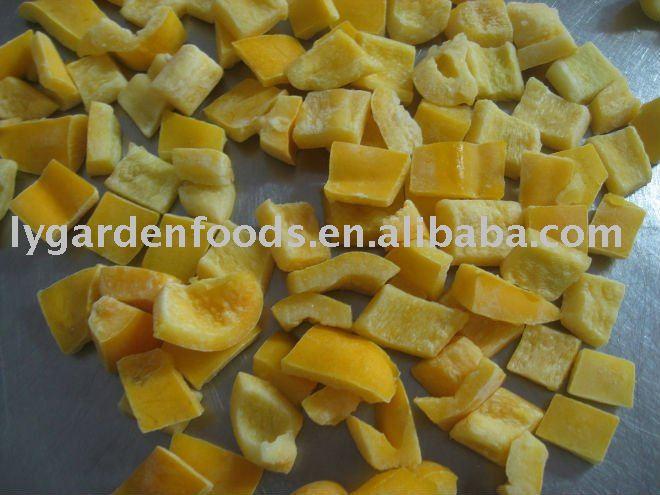 IQF yellow pepper slice