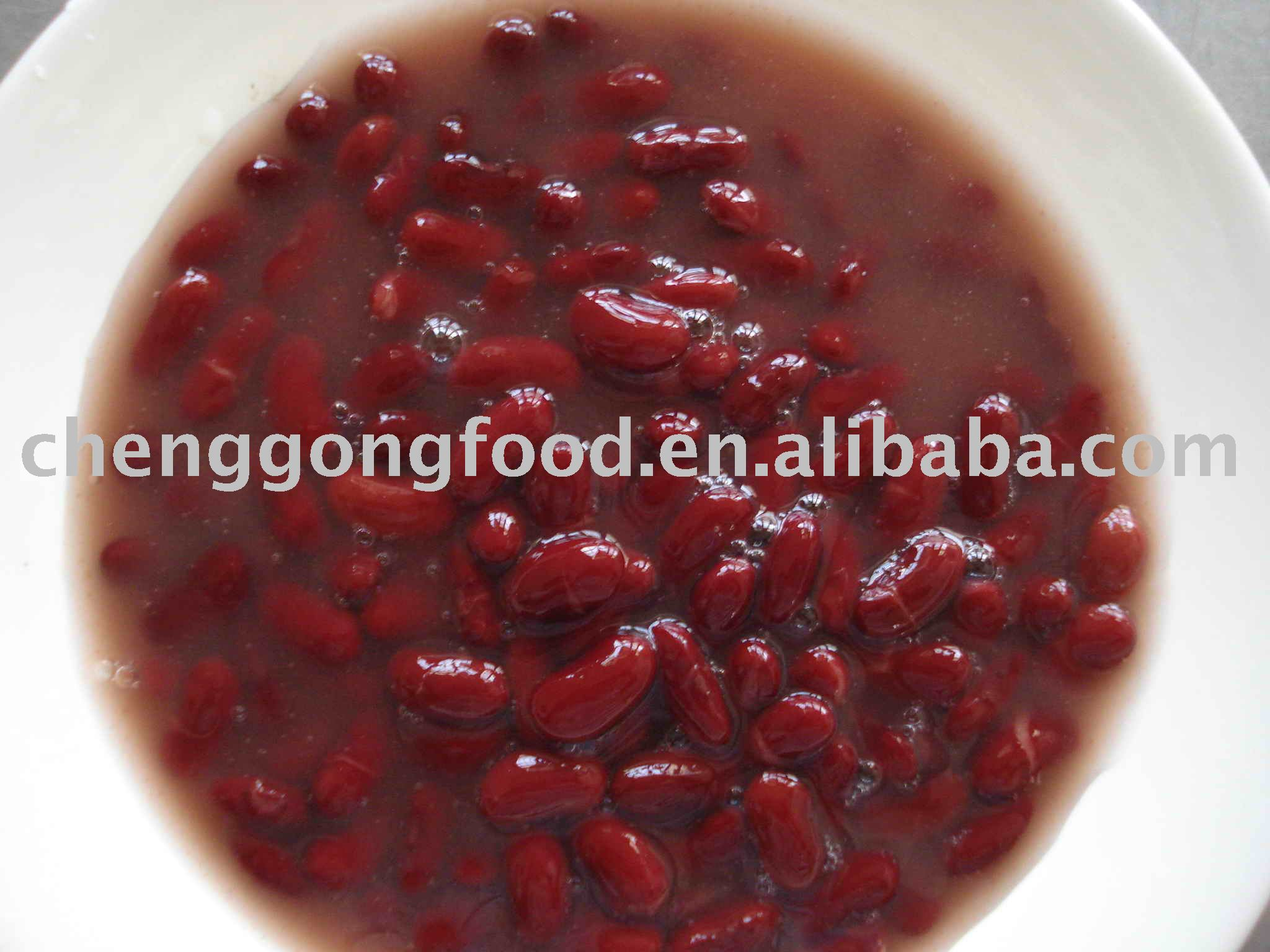 Canned red kidney bean in brine