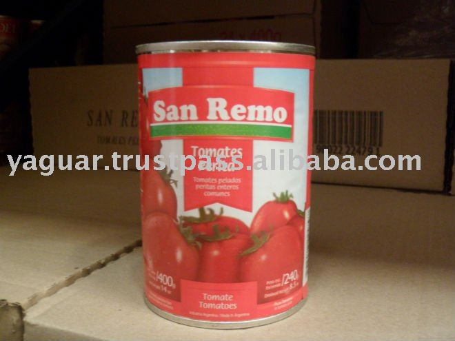 SAN REMO whole peeled tomatoes