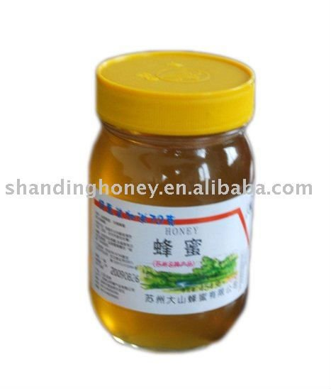 Pure raw white honey