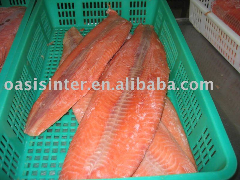 chum pink salmon fillet