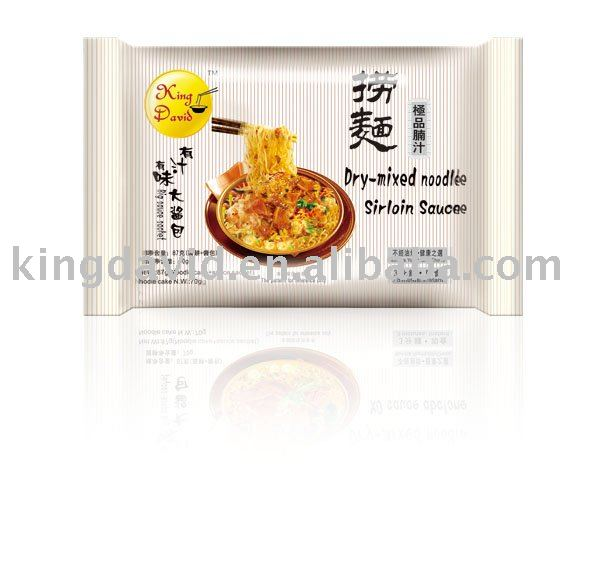85g Beef Flavor Air Dried Instant Noodles in Bag