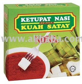 Ketupat (Rice Cake) with Satay Sauce