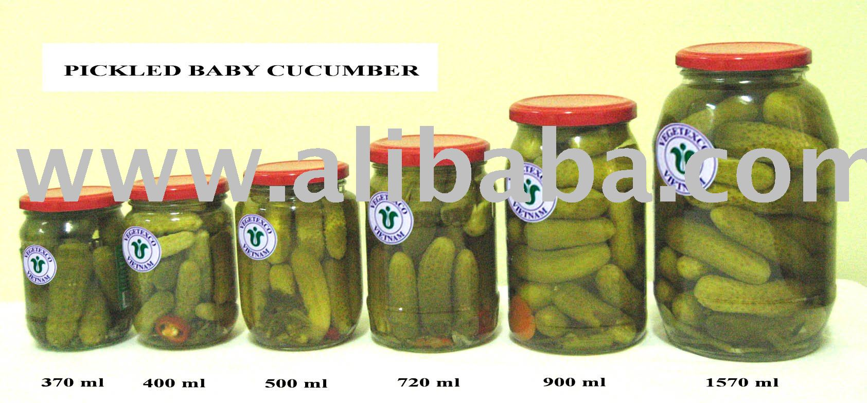 Pickled Baby Cucumber in Jars