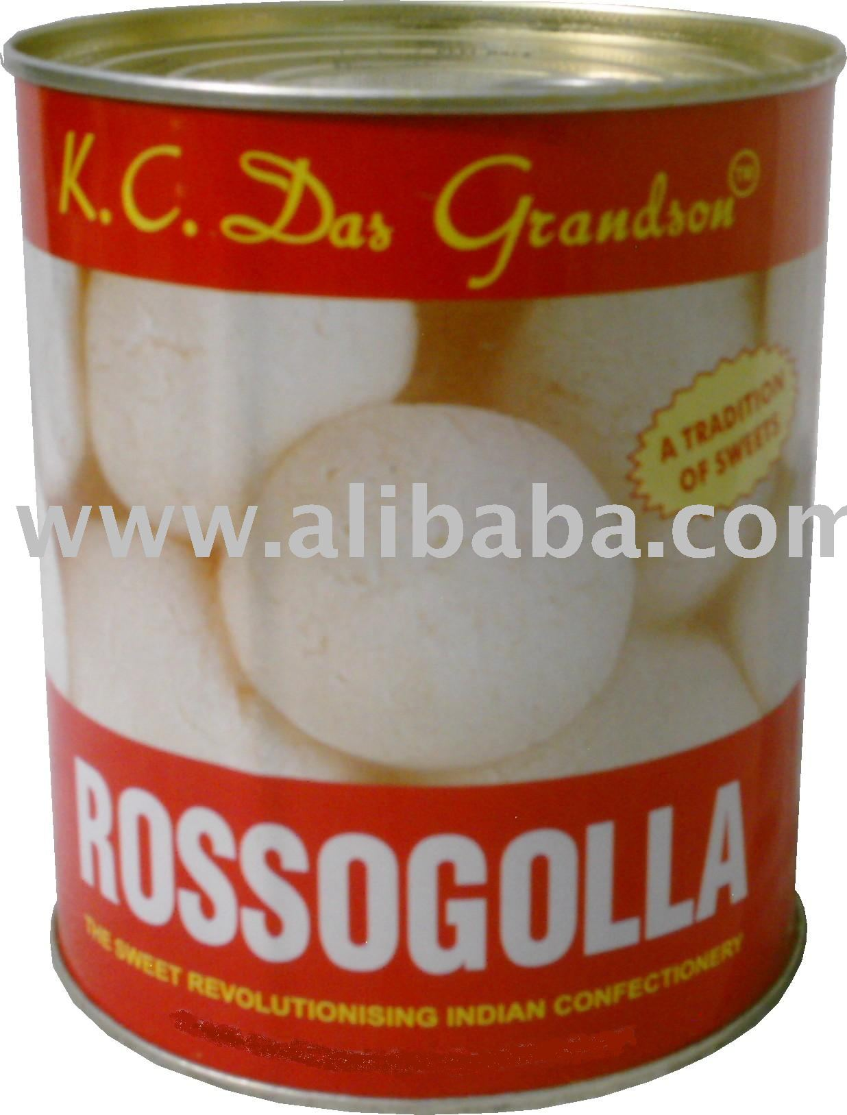 Canned Rossogolla or Rasgulla food