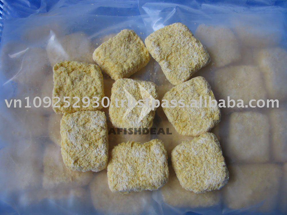Frozen Pangasius Basa Catfish Breaded Portion / Nugget