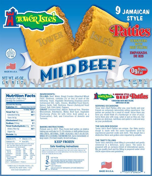 9 Count Mild Beef Patties