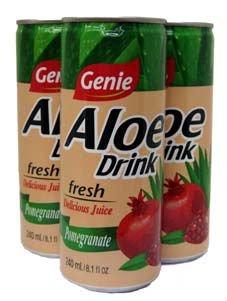 Genie pomegranate aloe drink
