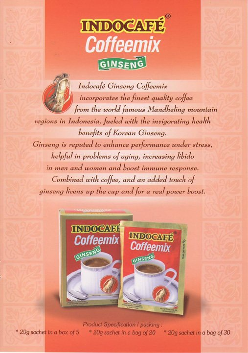 Indocafe Gingseng Coffee mix