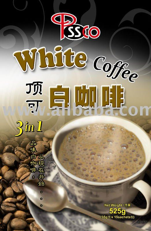 Instant 3 in 1 White Coffee