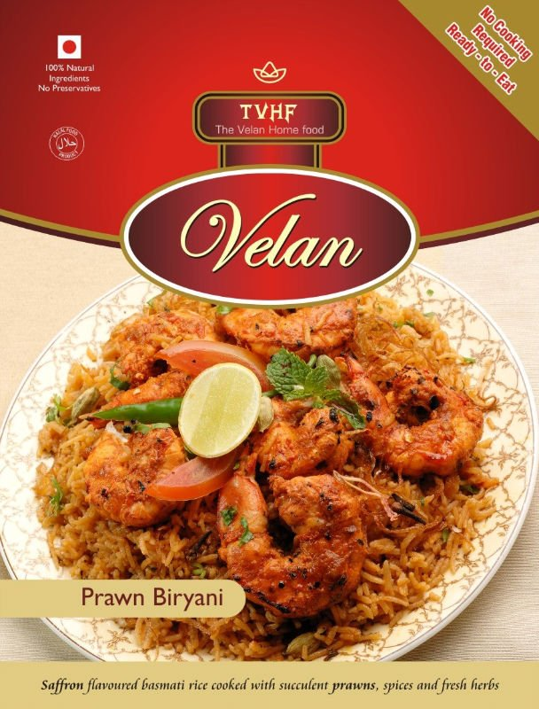 ready to eat Prawn Biryani 100% Halal Food no cooking required ready to eat Indian meals