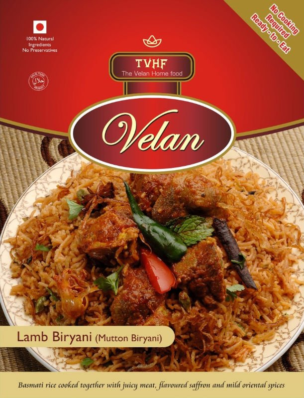 ready to eat Lamb Biryani 100% Halal Food no cooking required ready to eat Indian meals