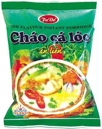 Fish flavour instant porridge