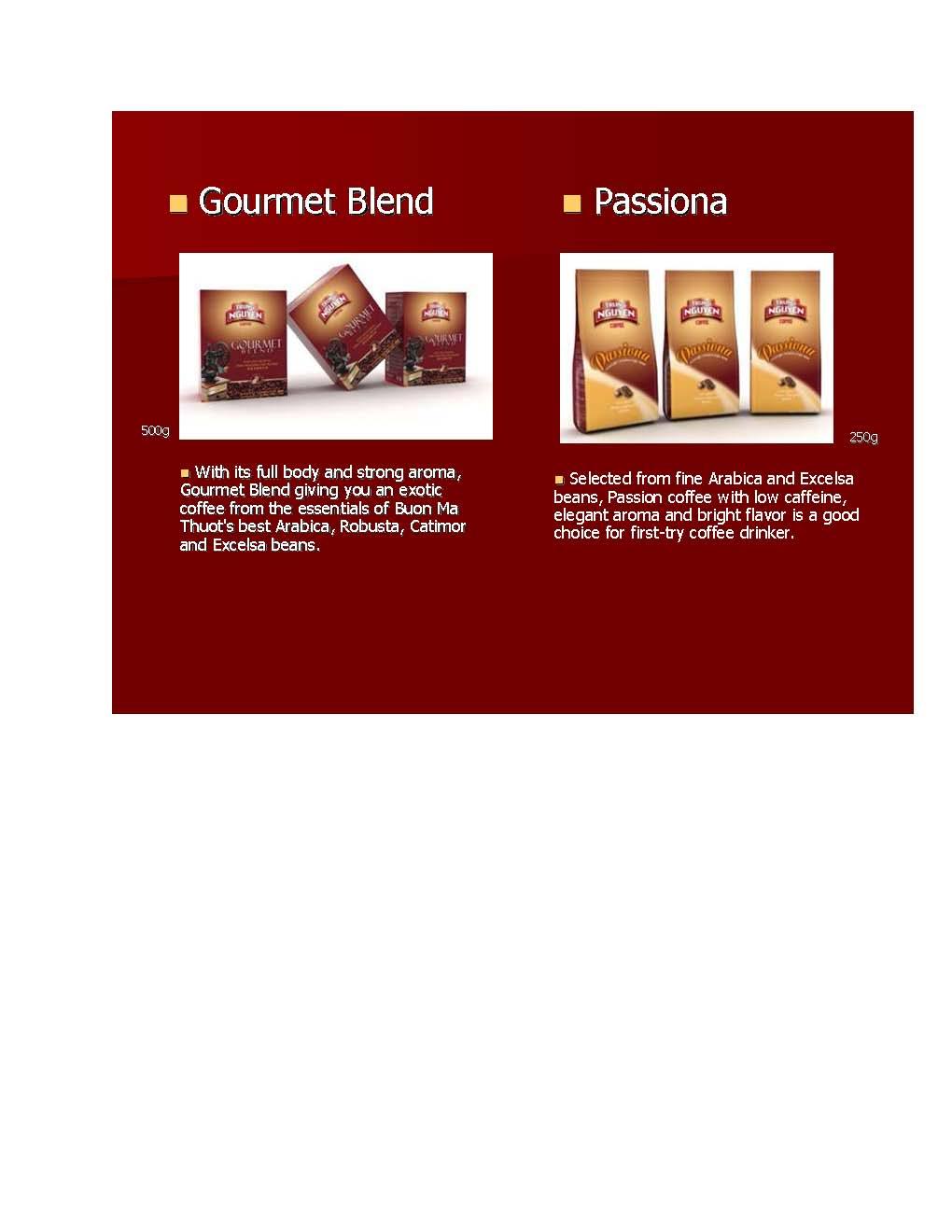 Trung Nguyen Gourmet Coffee