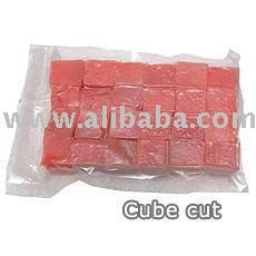 Cube cut Yellowfin Tuna