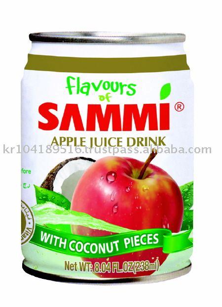 Flavous of Sammi 238ml Apple Juice Drink w / Coconut Pieces