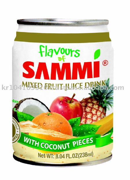 Flavous of Sammi 238ml Mixed Fruit Juice Drink w / Coconut Pieces