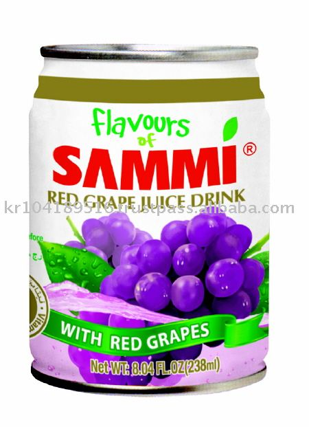 Flavous of Sammi 238ml Red Grape Juice Drink w / Red Grapes