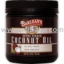 Coconut Oil, Extra Virgin - 100% Organic, 16 oz