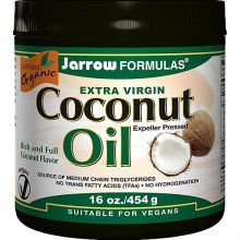 Jarrow Coconut Oil - Extra Virgin Organic 16 oz Liquid