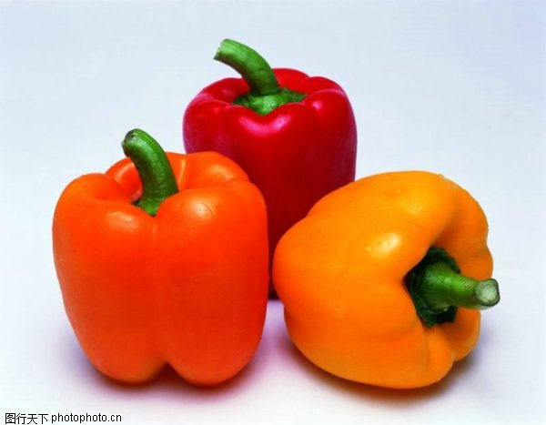 fresh colored bell peppers