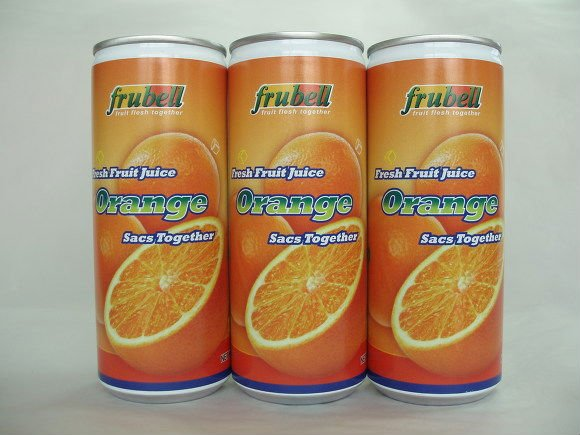 -Orange Juice, Orange sacs together : 240ml Can