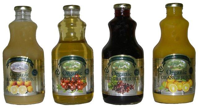 Organic 100% Fruit Juices
