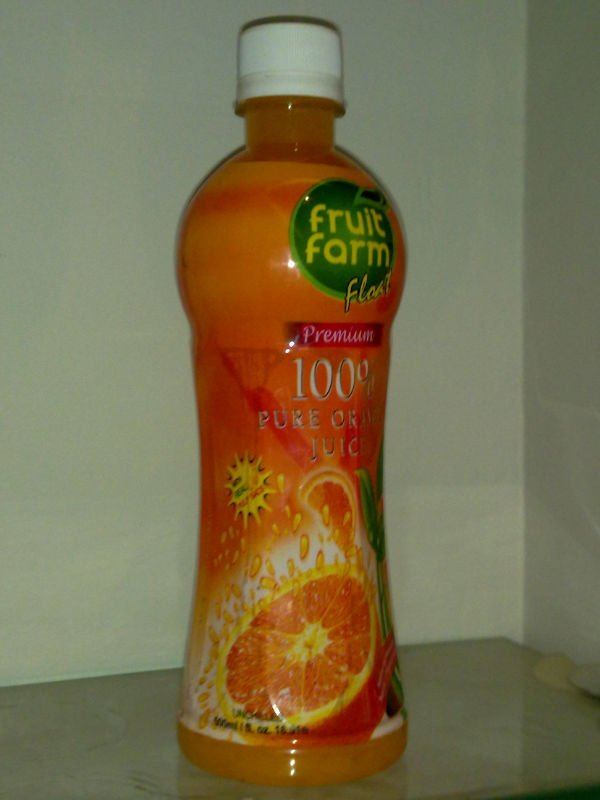 Fruit Farm Orange Float 500 ml With Fruit Pieces (Sacs/Cells) Juice