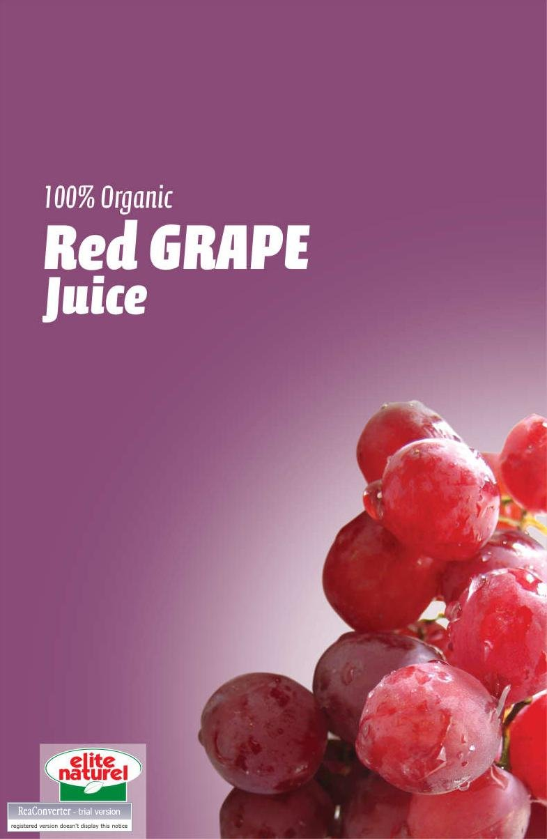 Elite Natural - % 100 Organic Direct Red Grape Juice