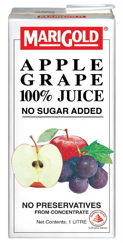 MARIGOLD APPLE GRAPE 100% Juice No Sugar Added