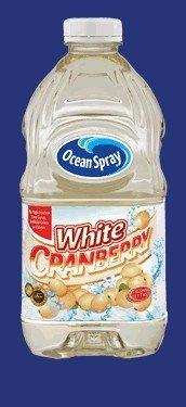 WHITE CRANBERRY JUICE DRINK 64 OZ. RECTANGULAR BOTTLE