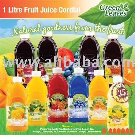 1 Litre Fruit Juice Cordial