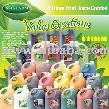 4 Litres Fruit Juice Cordial