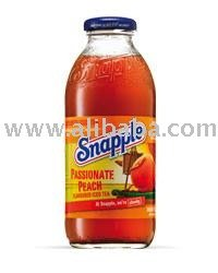 Snapple Passionate Peach glass bottle 0,5l