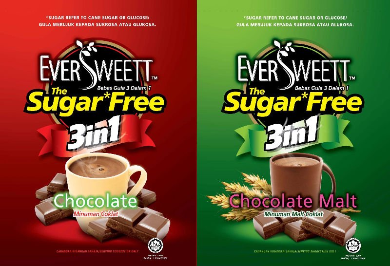 Eversweett Sugar Free Chocolate drink and Eversweett Chocolate Malt drink