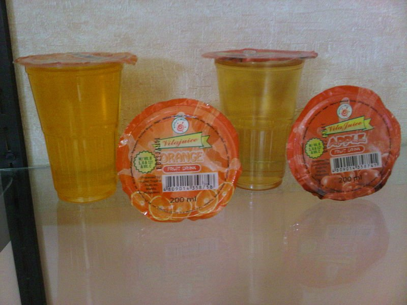Fruit Juices in Cups