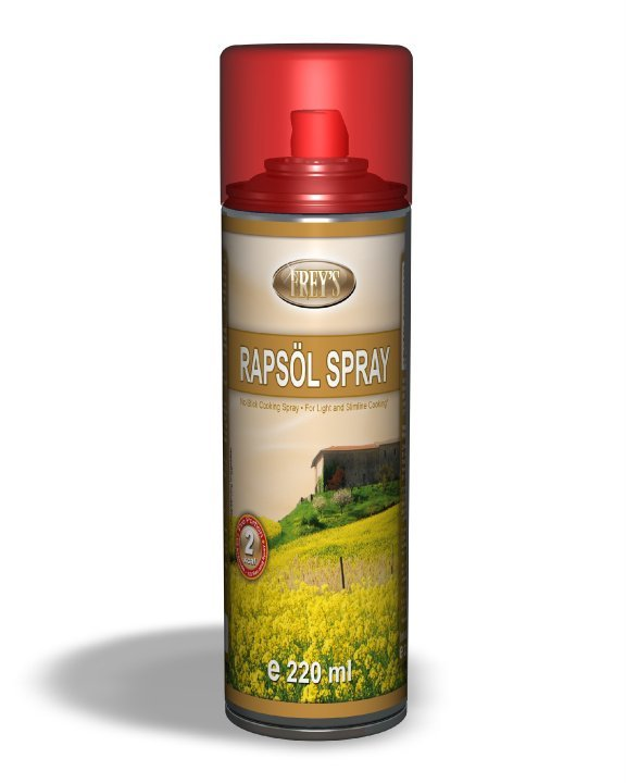 No-Stick Cooking Spray with Rape seed Oil Canola Oil - 500 ml/17 OZ, No Pump, No Lecithin, Pure