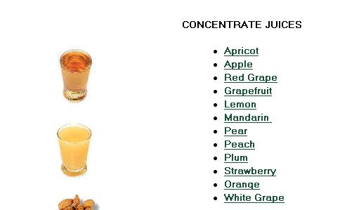 Organic concentrate juice