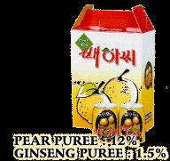 Crushed Pear    Ginseng   Juice