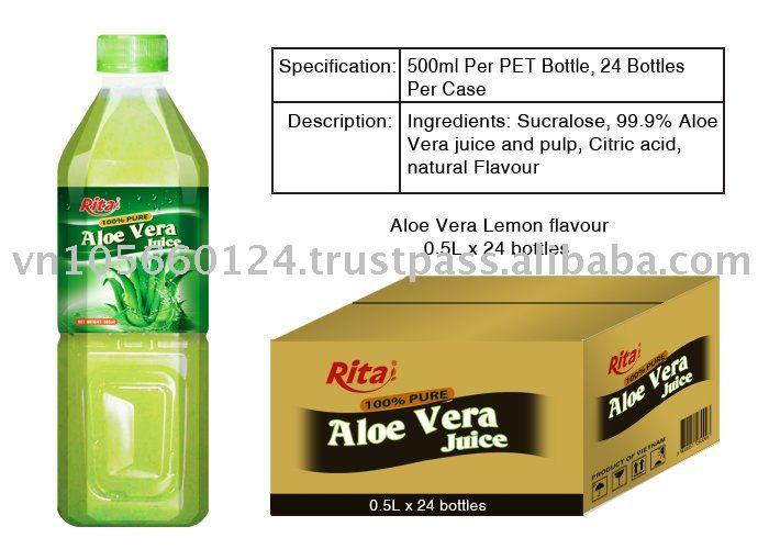100 pure aloe vera juice