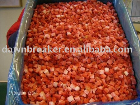Frozen IQF strawberry ( Diced strawberry/ Freezing strawberry )