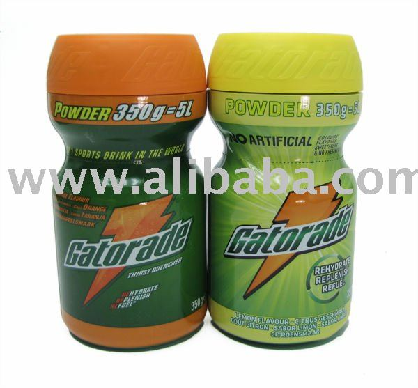 Gatorade drinking powder, 350 gramms netto, Orange or Lemon taste