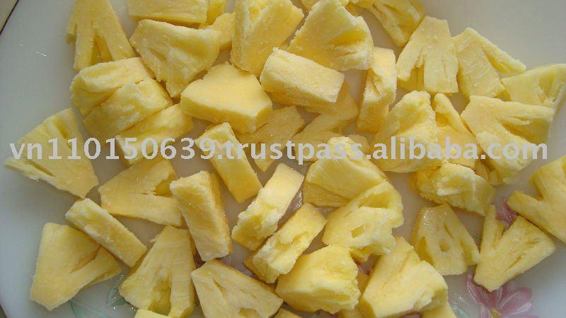 IQF pineapple, frozen pineapple