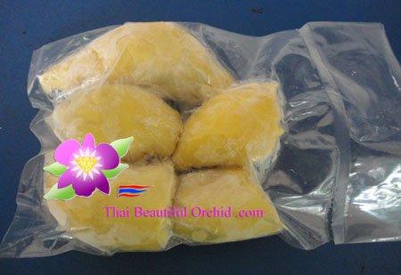 Frozen durian 500 g per pack