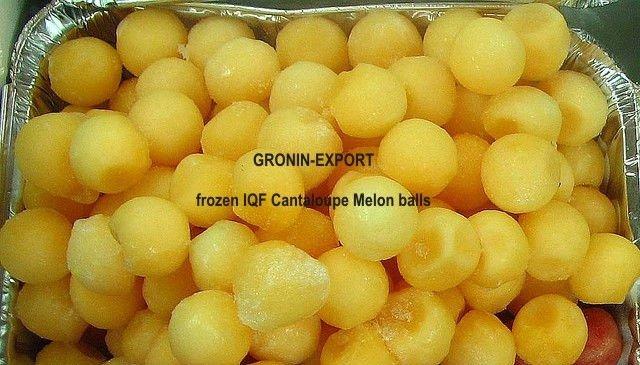 IQF Melon balls 3/4 inch, Cantaloupe variety,