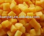 IQF dices yellow peach